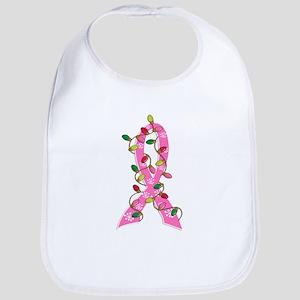Christmas Lights Ribbon Breast Cancer Bib
