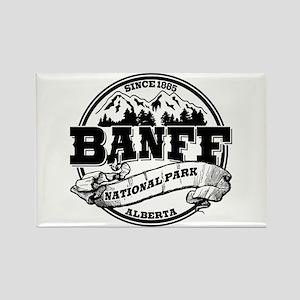 Banff NP Old Circle Rectangle Magnet
