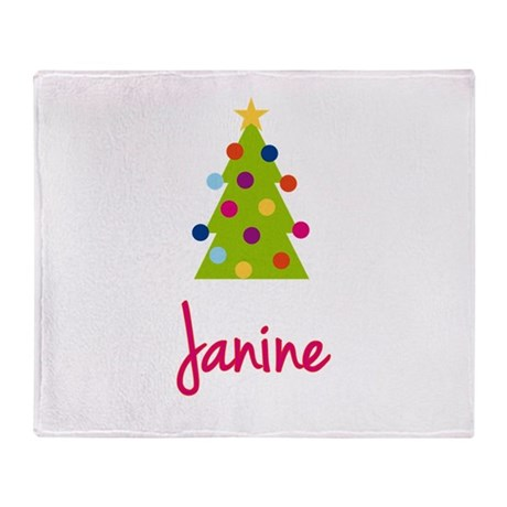 Christmas Tree Janine Throw Blanket