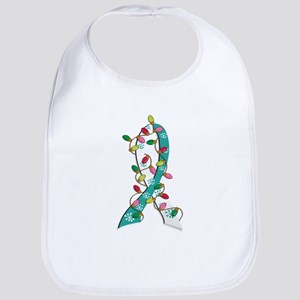 Christmas Lights Ribbon Cervical Cancer Bib