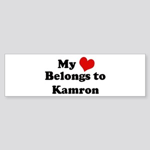 My Heart: Kamron Bumper Sticker