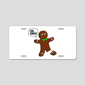 oH Snap, Gingerbread Man Aluminum License Plate
