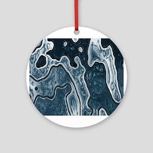 Blue Camo Ornament (Round)