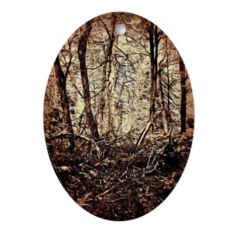 Forest Painting Ornament (Oval)