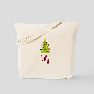 Christmas Tree Lily Tote Bag