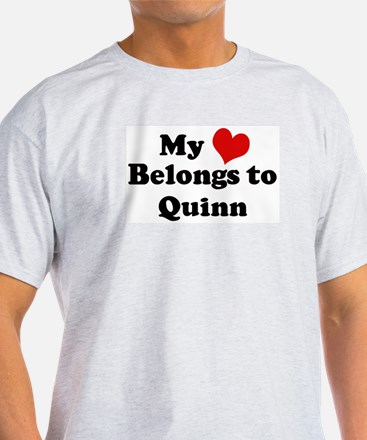 My Heart: Quinn Ash Grey T-Shirt