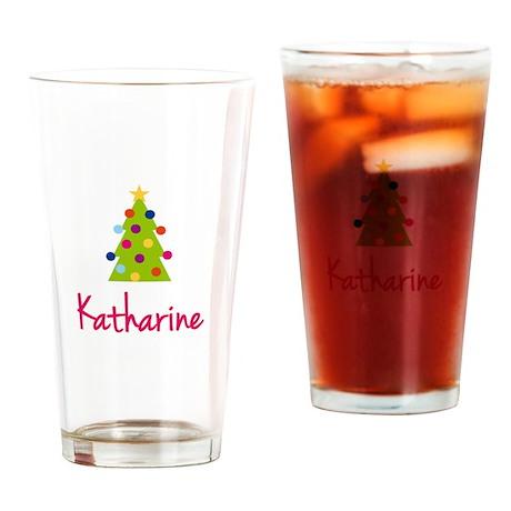 Christmas Tree Katharine Drinking Glass