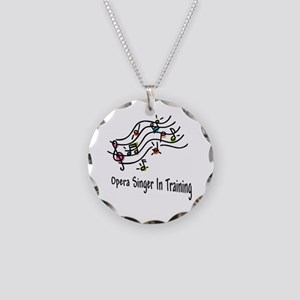 Opera Singer Necklace Circle Charm