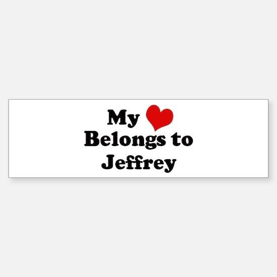 My Heart: Jeffrey Bumper Bumper Bumper Sticker