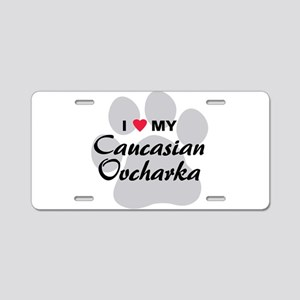 Love My Caucasian Ovcharka Aluminum License Plate