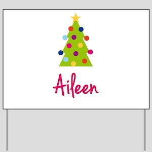 Christmas Tree Aileen Yard Sign