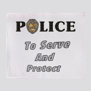 Police Service Throw Blanket