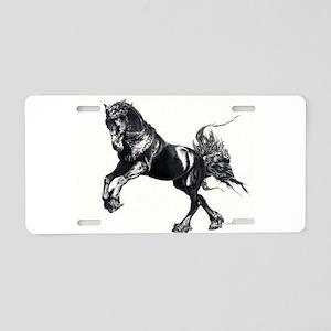 Keegan, Friesian Stallion Aluminum License Plate