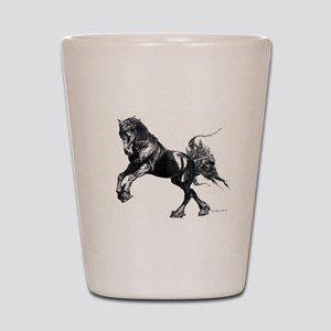 Keegan, Friesian Stallion Shot Glass