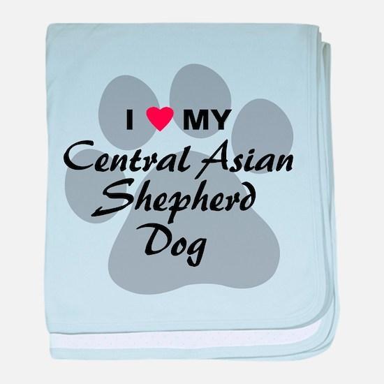 Central Asian Shepherd Dog baby blanket