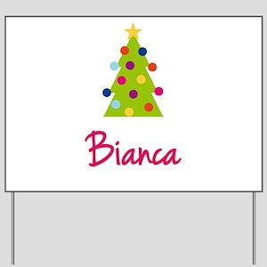 Christmas Tree Bianca Yard Sign
