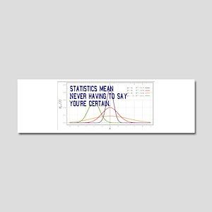 Statistics Means Uncertainty Car Magnet 10 x 3