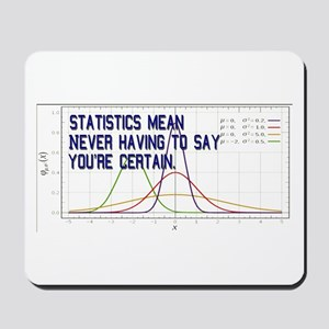 Statistics Means Uncertainty Mousepad