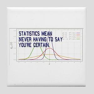 Statistics Means Uncertainty Tile Coaster