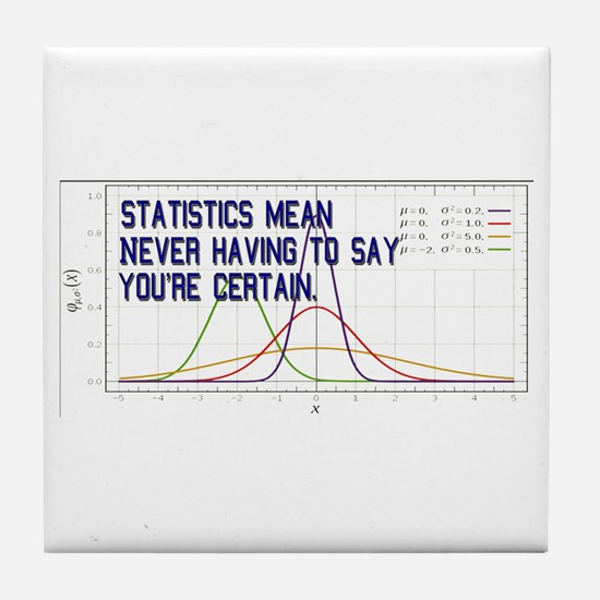 Statistics Means Uncertainty Tile Coaster