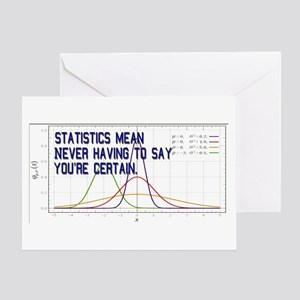 Statistics Means Uncertainty Greeting Card