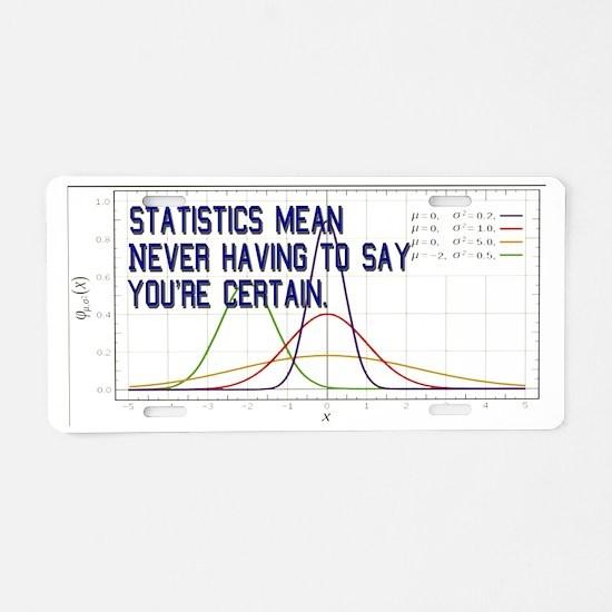 Statistics Means Uncertainty Aluminum License Plat
