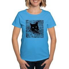 Cat in the Grass Women's Dark T-Shirt