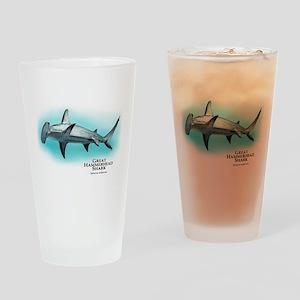 Great Hammerhead Shark Drinking Glass