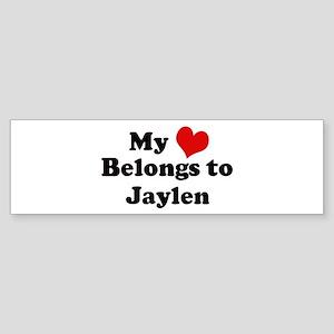 My Heart: Jaylen Bumper Sticker