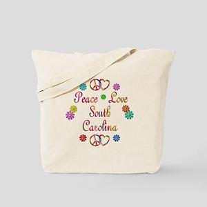 Peace Love South Carolina Tote Bag