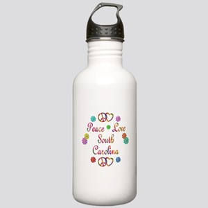 Peace Love South Carolina Stainless Water Bottle 1