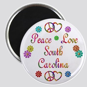 Peace Love South Carolina Magnet