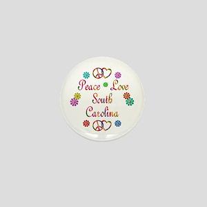 Peace Love South Carolina Mini Button
