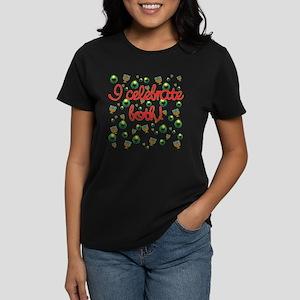 Hanukkah AND Christmas Women's Dark T-Shirt