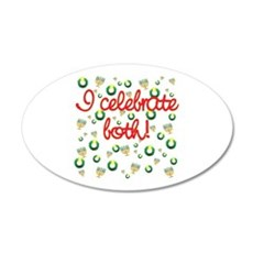 Hanukkah AND Christmas 22x14 Oval Wall Peel
