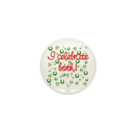 Hanukkah AND Christmas Mini Button (100 pack)