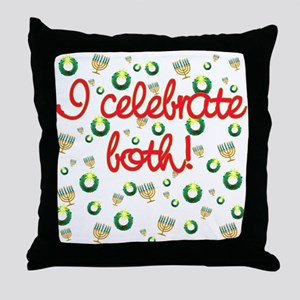 Hanukkah AND Christmas Throw Pillow