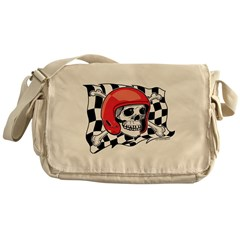 Skull Crossbones Racing Messenger Bag
