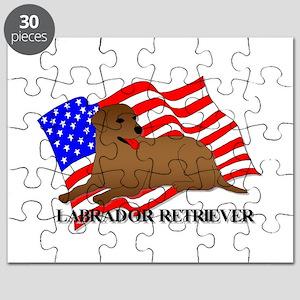 Labrador Retriever USA Puzzle