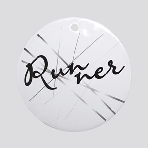 Abstract Runner Ornament (Round)