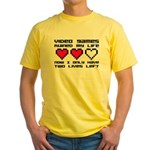 Video Games Ruined My Life Yellow T-Shirt