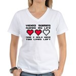 Video Games Ruined My Life Women's V-Neck T-Shirt