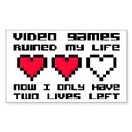 Video Games Ruined My Life Sticker (Rectangle)