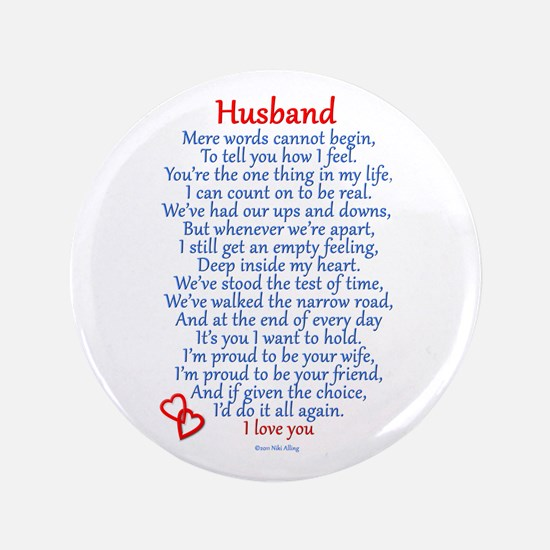 "Husband Love 3.5"" Button"