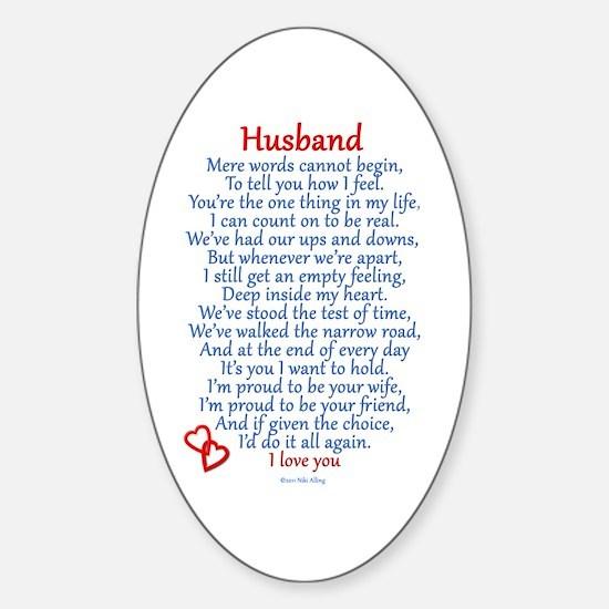 Husband Love Sticker (Oval)