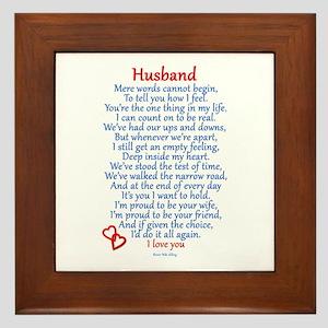 Husband Love Framed Tile