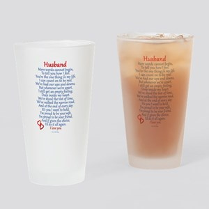 Husband Love Drinking Glass