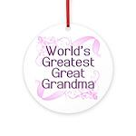 World's Greatest Great Grandma Ornament (Round)