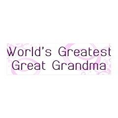World's Greatest Great Grandma 42x14 Wall Peel