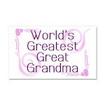 World's Greatest Great Grandma Car Magnet 20 x 12